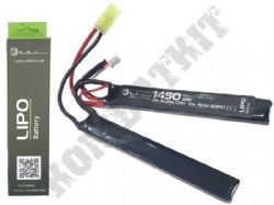 WE Airsoft 7.4v Lipo 1450mAH 25c 2 Way Nun-Chuck Battery Pack Mini Tamiya